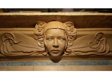 clay model stucco frieze I