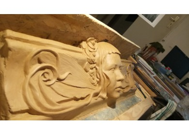 clay model stucco frieze II